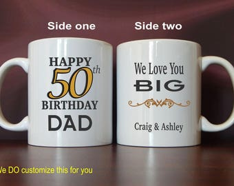 50th Birthday gift for my Dad, Birthday Gift to Dad, Mug for my Father, Gift from Son, Gifts to a Special Dad, Custom Coffee Mug, MBC002