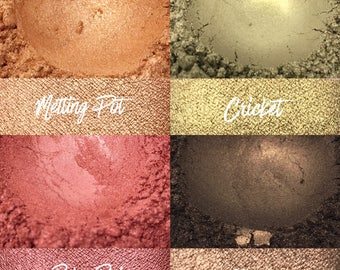 Ruby Red Bundle, 4 loose pigment shadows, 10 gram jars
