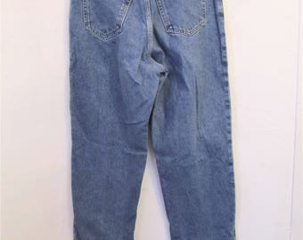 Women's,Vintage 90's,Blue ORIGINAL Fit,Traditional-Waist TAPERED Leg Jeans By Lands' End.9M