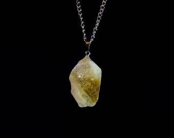 Citrine Crystal Amulet Necklace