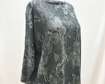 Individual, Unique, Batwing, Oversized, Top, Tunic, Long Sleeves, One Size, Black, Grey, White