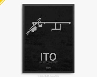 ITO Airport, Hilo International Airport, Hilo Hawaii, ITO Airport Poster, Hilo Airport, Hilo HI, Hilo Airport Poster, Hilo International