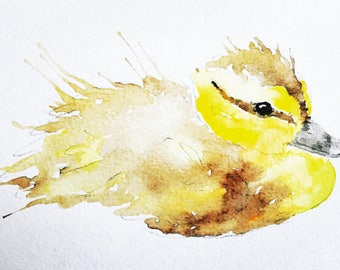 Duckling Watercolour Print
