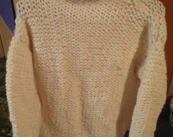 Platinum blonde Turtleneck Sweater for women small-medium