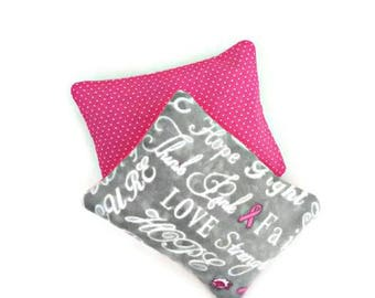 Handwarmers, Cooling pad, Rice bag, Pocket warmers, Breast Cancer Awareness, Hope Love and Strength, Stocking stuffers, Gifts for her