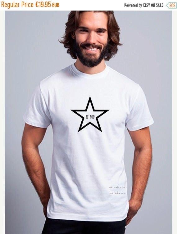 REBAJADO Round neck men short sleeve t-shirt STAR IT Dad