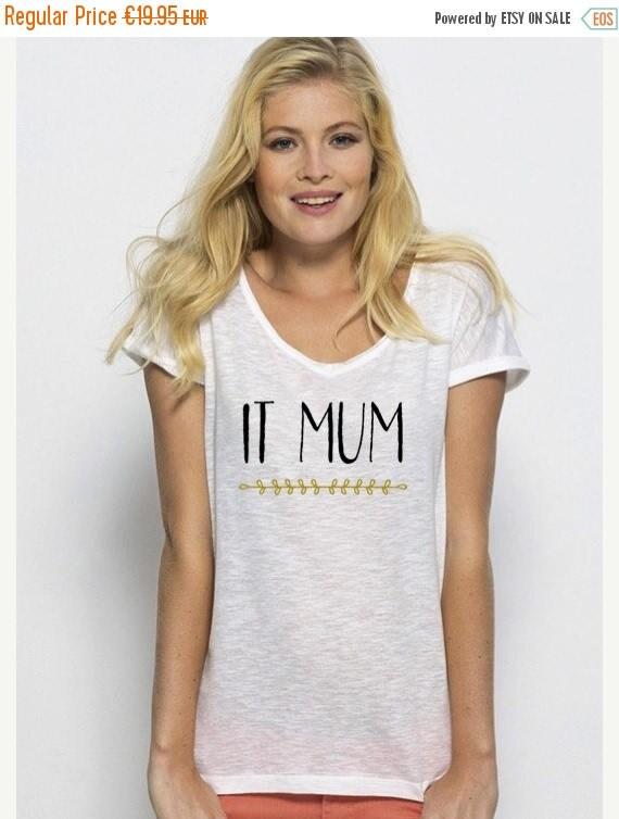 REBAJADO Round neck women t-shirt IT MUM