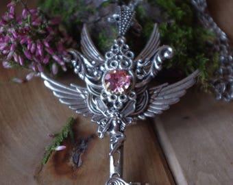 Magic Key, fantasy key, Winged key, Winged pendant, Large Key, Fantasy jewelry, Necklace Key, Pedant key, fairy key, fairy,Fantasy pendant