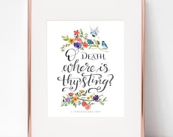 O Death Where Is Thy Sting? St. John Chrysostom Easter 8x10 print