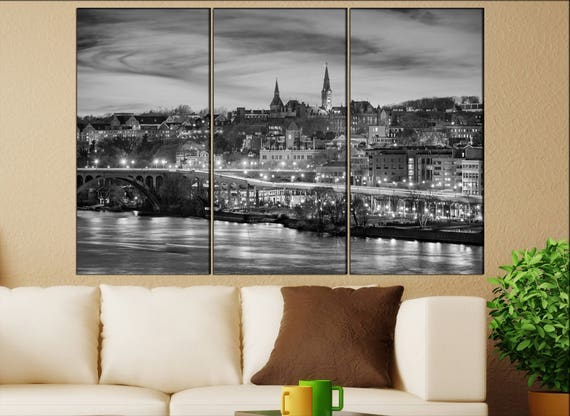 Georgetown Washington canvas wall art  Georgetown canvas wall art art Georgetown wall decoration Georgetown large canvas wall art