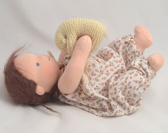 """Waldorf Baby doll 12"""", waldorf doll. Waldorf toys, for sister, for brother, soft doll, gift for Christmas."""