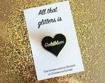 Goldblum Heart Enamel Pin