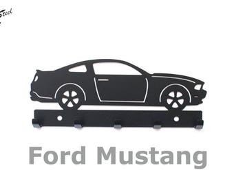 porte cl s mural ford mustang accroche cl s vintage. Black Bedroom Furniture Sets. Home Design Ideas
