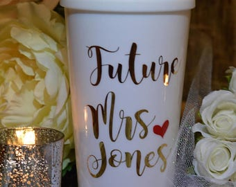 Bride To Be Gift, Future Mrs, Bride To Be Cup, Future Mrs. Bride Tumbler (Insulated) [Bridal Shower, Engagement Gift, Bride to Be Gift Idea]