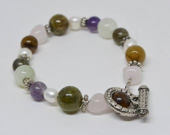 Silver tone Beaded Bracelet