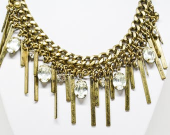 Beautiful brass tone necklace