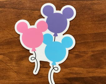Main Street USA Balloon Sticker