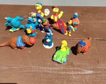 Vintage Sesame Street PVC Muppet Characters