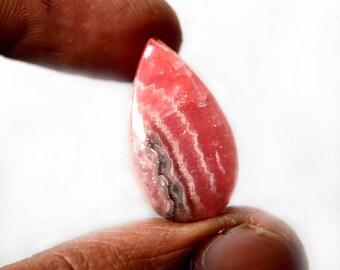 Natural Rhodochrosite 20.5 Cts Gemstone Loose Cabochon Pink Rhodochrosite Pear Shape 24x14x6 MM R13418