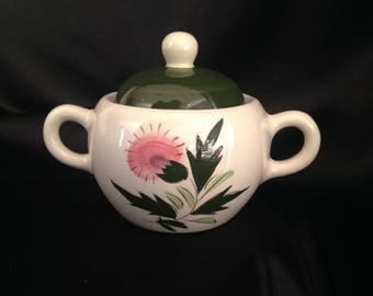 Stangl Pottery , Thistle Pattern , STANGL THISTLE Sugar Bowl