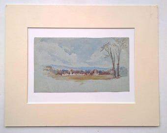 Attrib. John Spence Ingall Yorkshire Artist Original Watercolour Colour Painting landscape
