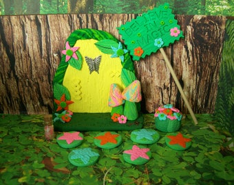 Wobbly Fairy Door, Fairy Garden Kit, Fairy Garden, Whimsical Door, Fairy Door, Handmade Fairy Door, Fairy Garden Accessory, Fairies, Gnomes