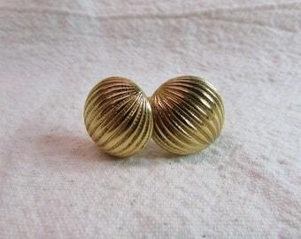 Monet Gold Tone Clip-On Earrings
