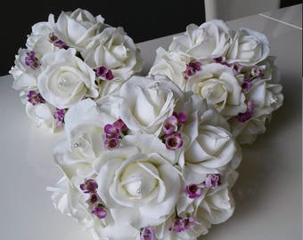 Real Touch Bridesmaids Bouquets