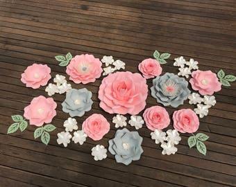 ROSE GARDEN Paper flower backdrop/Paper flower wall/Wedding Backdrop/Holy communion/Bridal Baby shower/Sweet table/Christening /Dessert