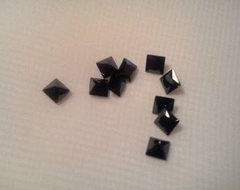 10 4 x 4 mm square zircons. -6 032