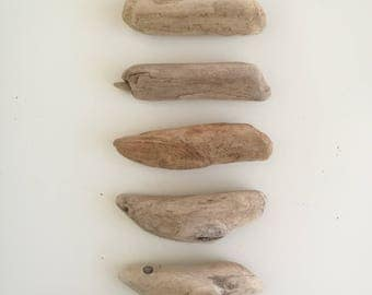 "7 Driftwood Sticks - Rounded Driftwood Pieces Bulk Driftwood 4""- 5"" Crafting Driftwood Beach Crafts Supply"