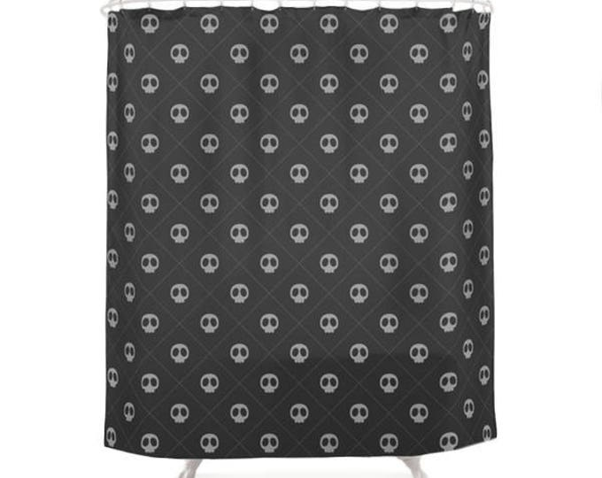 Black Skulls Pattern Shower Curtain