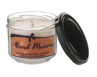 Almond Candle, Fall Candle, Autumn Candle, Soy Wax Candle, Vegan Candle, Handmade Candle,