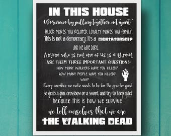 In This House We Do The Walking Dead, Walking Dead Home