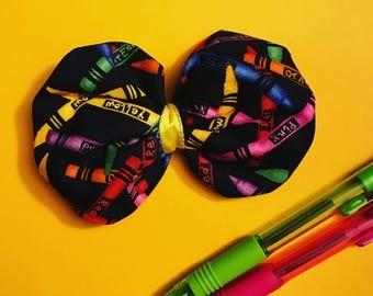 Crayon hair bow