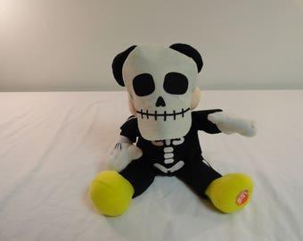 Disney Plush Mickey Mouse Halloween Skeleton Costume Musical Mickey