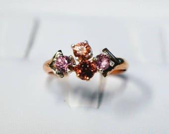 Rare Padparadscha Montana Sapphire Engagement Ring