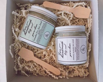 2 for 15, pick ANY 2 4oz Salt Scrubs, come with a gift box & 2 wooden spoons