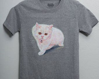 Cat,painting on shirt