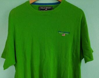 Retro 90s Polo Sport Logo Embroidered Cotton T-Shirt Ralph Lauren