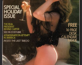 Mature Vintage Penthouse Magazine Mens Girlie Pinup : December 1977 VG+ White Pages, Complete With Intact Centerfold NO CALENDAR