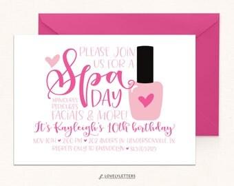 Spa Birthday / Spa Day Party / DIGITAL / Spa Invite / Pamper Party Invite / Spa Party / Spa Day Invitation / Spa Day Birthday Invitation