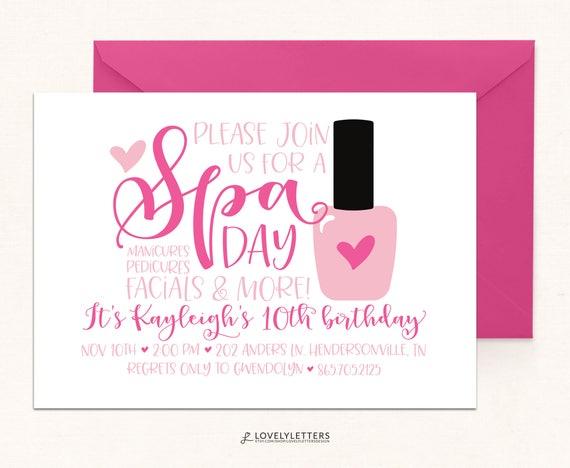 Spa birthday spa day party digital spa invite pamper party il570xn stopboris Gallery