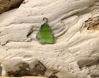 Raw sea glass pendant from the Central Coast of California!
