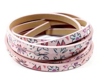 1.15 m pink faux leather strap has 5mm x 2mm