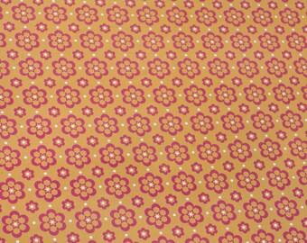 16 SHEETS OF PAPER PRINTED IN ORANGE FLOWERS 29.5 * 21 CM SCRAPBOOKING