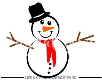 Snowman Snow Man svg / dxf / eps / png files. Digital download. Compatible with Cricut and Silhouette machines. Small commercial use ok.