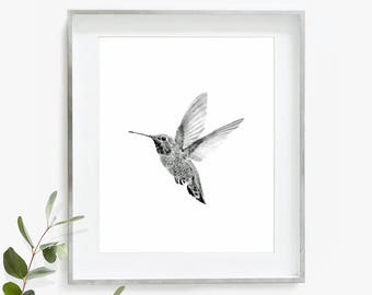 Hummingbird Print, Hummingbird Art, Bird Wall Art, Watercolor Painting, Nature Art Print, Printable Wall Art, Nursery Art Print