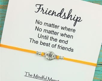 Best Friend Bracelet | Friendship Bracelet | Compass Bracelet | No Matter Where No Matter When | Gift for Best Friend | Long Distance Gift