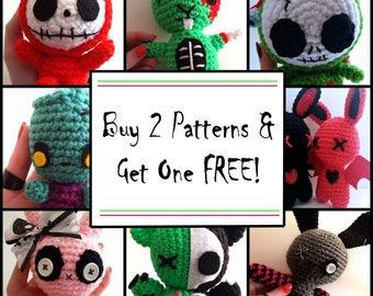 Crochet Pattern Sale - Buy 2 Get One FREE! - PDF Files